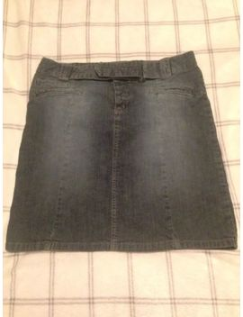 Vintage 90s Top Shop Moto Denim Skirt With Belt Detail Size 10 by Ebay Seller