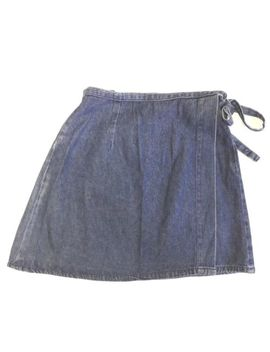 Ladies Size 10 Denim Vintage Mini Wrap Cotton Denim Skirt (Ref: B102) by Ebay Seller