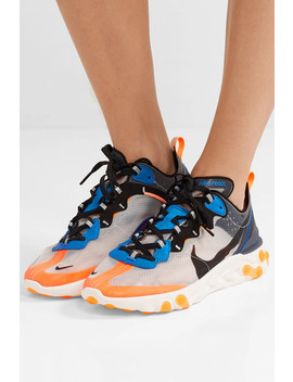 React Element 87 Microsuede Trimmed Ripstop Sneakers by Nike
