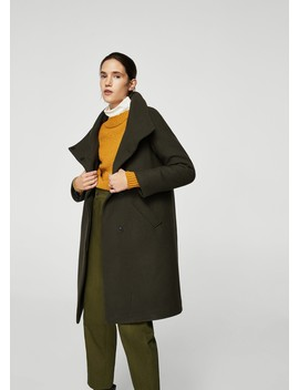 Wool Blend Quilted Coat by Mango