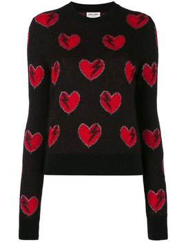 Heart And Lightning Sweater by Saint Laurent