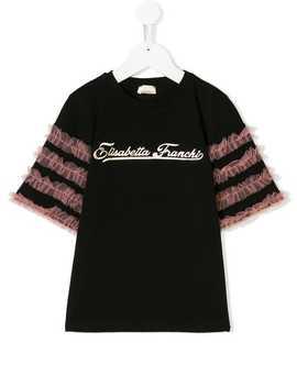Ruffled T Shirt by Elisabetta Franchi La Mia Bambina