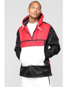 Colorblock Windbreaker Jacket   Black/Combo by Fashion Nova