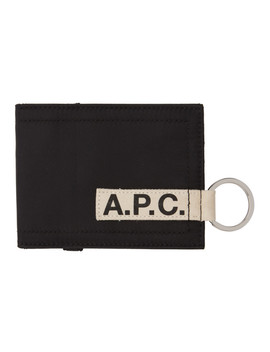 Black Lucky Card Holder by A.P.C.