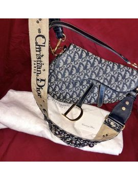Auth. Vintage Christian Dior Saddle Bag & 2018 Shoulder Strap! by Christian Dior