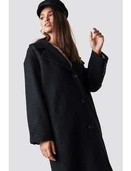 Oversized Wool Blend Coat by Hannalicious X Na Kd