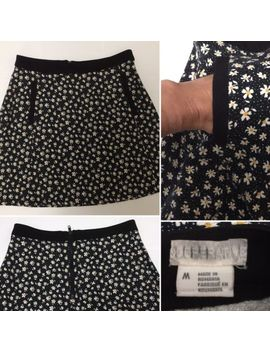 Mini Aline Skirt Pockets Black Daisy Floral Urban Outfitters Cooperative  Uk M by Ebay Seller