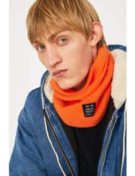 Uo Fleece Orange Snood by Urban Outfitters