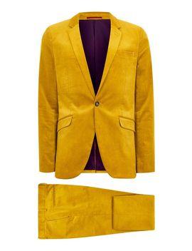 Mustard Corduroy Super Skinny Suit by Topman