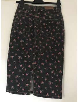Zara Trf Fitted Denim Floral High Waist Size 8 10 by Ebay Seller