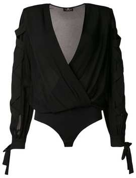 V Neck Bodysuit by Elisabetta Franchi