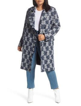 Floral Plaid Coat by Halogen®
