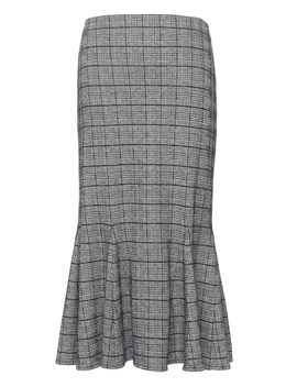 Japan Online Exclusive Plaid Knit Trumpet Skirt by Banana Repbulic