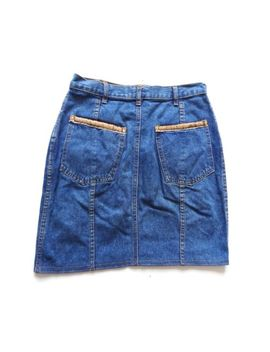 Vintage 80's Blue Denim Skirt Retro Boho 12 by Ebay Seller