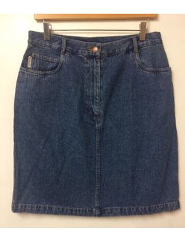 Pendleton Denim Skirt Size Uk 10/12 A Line Jean Skirt Vintage American Import by Ebay Seller