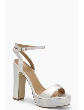 Metallic 2 Part Platform Heels by Boohoo