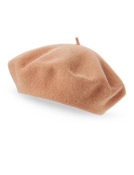 Solid Wool Beret by Dorfman Pacific Co.