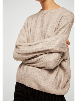 Ribbed Detail Sweater by Mango