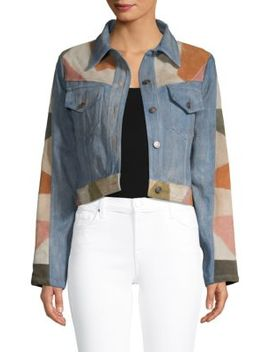 Dallas Suede & Denim Cropped Jacket by Free People