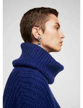 Turtle Neck Oversize Sweater by Mango