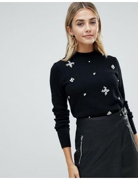 fashion-union-high-neck-jumper-with-embellishment by fashion-union