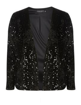 Black Sequin Embellished Jacket by Dorothy Perkins