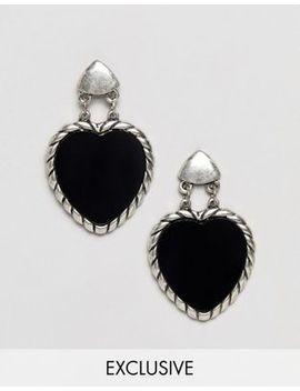 Sacred Hawk Enamel Heart Earrings by Sacred Hawk