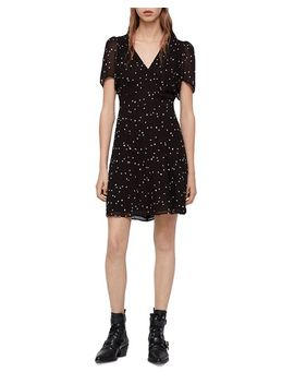 Lucia Embroidered Star Dress by Allsaints