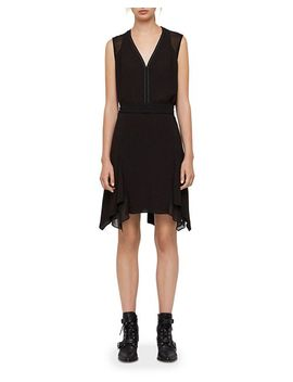 Izara Handkerchief Hem Dress by Allsaints