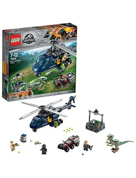Lego 75928 Jurassic World Blue's Helicopter Pursuit, Owen And Blue Figures, Dinosaur And Helicopter Toys, Fallen Kingdom Movie Sets by Lego