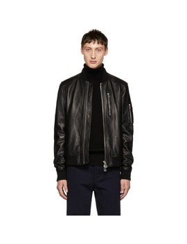Black Leather Clenshaw Jacket by Belstaff