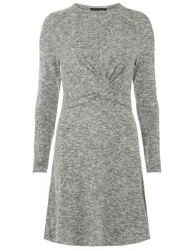 Grey Twist Front Dress by Dorothy Perkins