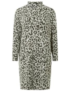 Animal Brushed Jumper Dress by Dorothy Perkins