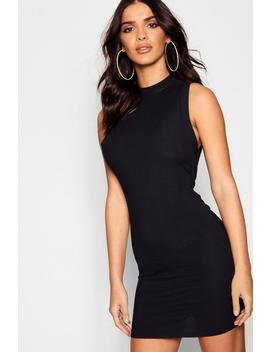 Rib Knit Sleeveless Bodycon Mini Dress by Boohoo