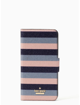 Glitter Stripe Iphone 7 & 8 Plus Wrap Folio Case by Kate Spade
