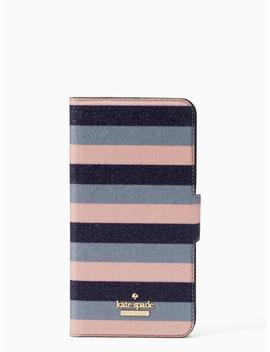 Glitter Stripe Iphone 7 & 8 Plus Wrap Folio Case by Kate Spade