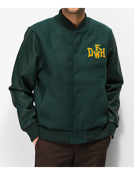 Deathworld Varsity Green Jacket by Deathworld
