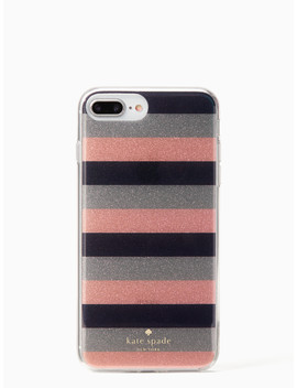 Glitter Stripe Iphone 7 & 8 Plus Case by Kate Spade