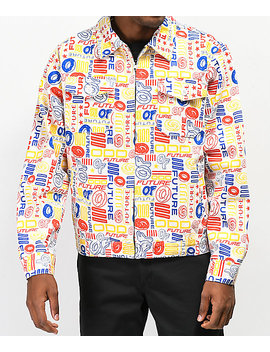 Odd Future Allover Twill White Work Jacket by Odd Future