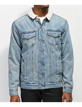 Dravus Locate Sherpa Lined Denim Jacket by Dravus