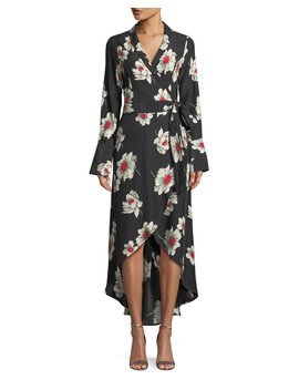 Gowen Floral Print Silk Wrap Dress by Equipment