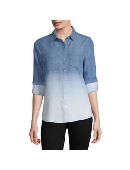 A.N.A Modern Fit Long Sleeve Button Front Shirt by A.N.A