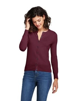 Women's Petite Supima Cotton Cardigan Sweater by Lands' End