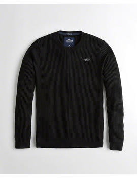 Muscle Fit Crewneck Sweater by Hollister