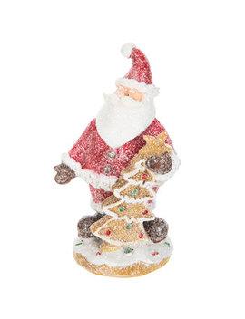 Glitter Santa Holding Gingerbread Tree by Hobby Lobby