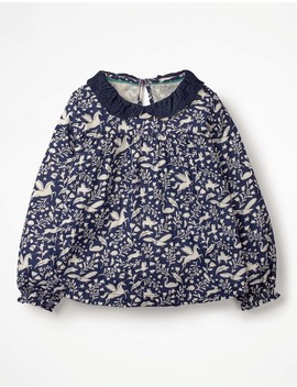 Broderie Collar Shirt by Boden