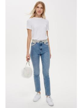 Pearl Straight Leg Jeans by Topshop