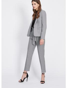 Houndstooth Paperbag Trousers by Miss Selfridge