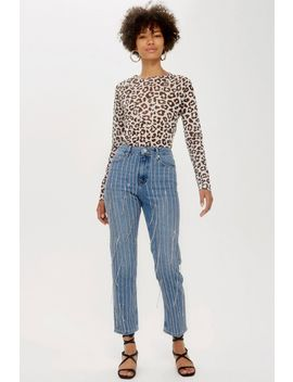 All Over Diamante Straight Leg Jeans by Topshop