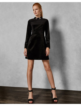 Velvet Embellished Dress by Ted Baker